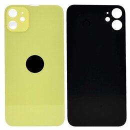 Корпусные детали - Стекло задней крышки iPhone 11 High Quality желтый, 0