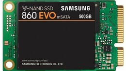 Внутренние жесткие диски - SSD Samsung 860 EVO 500Gb MZ-M6E500BW mSATA, 0
