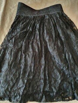 Юбки - Кружевная юбка с подьюпником 46-48р, 0
