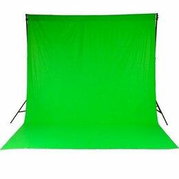 Фоны - Хромакей - Зеленая Ткань, 0