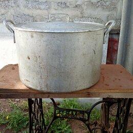 Кастрюли и ковши - Кастрюля аллюминевая на 40 литров. С крышкой., 0