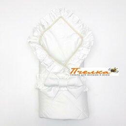 Одеяла - Одеяло - конверт с уголком и бантом белоснежное108 х 108 см LoveBabyToys, 0