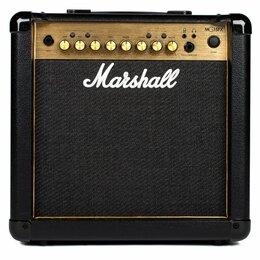 Гитарное усиление - Marshall MG15GFX Gold Комбоусилитель гитарный, 2 канала, 15Вт, 8, 0