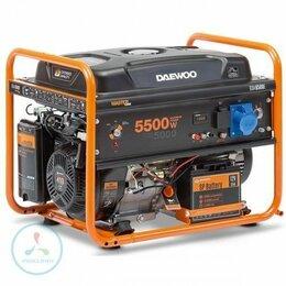 Электрогенераторы - Бензиновый генератор Daewoo GDA 6500E, 0
