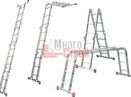 Лестницы и стремянки - Лестница шарнирная алюминиевая (трансформер),…, 0