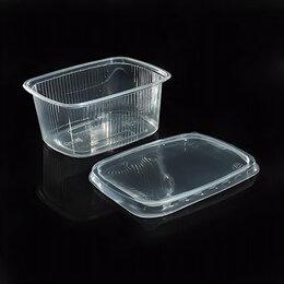 Одноразовая посуда - Одноразовый контейнер с крышкой 250 мл, 0
