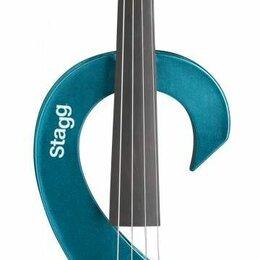 Смычковые инструменты - Stagg EVN 4/4 MBL электроскрипка 4/4, цвет синий металлик, 0