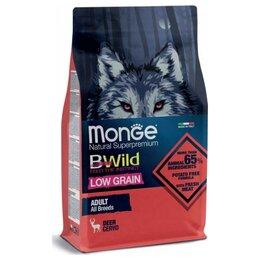 Корма  - Сухой корм Monge BWild Dog Low Grain Deer 2,5 кг, 0