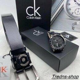 Подарочные наборы - Мужской набор часы + ремень, 0