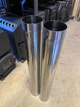Дымоходы - Труба - 120 - 1 м - нержавейка AISI 430 - 1 мм, 0