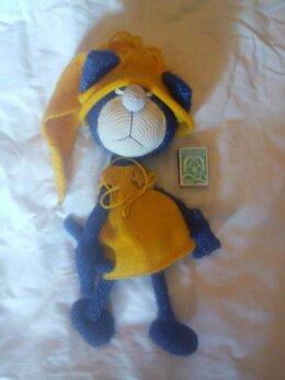 Мягкие игрушки - игрушка чудной вязаный кот , 0