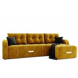 Диваны и кушетки - Угловой диван «Нью-Йорк», угол правый, пантограф, велюр, цвет селфи 08, подуш..., 0