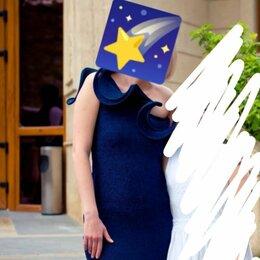 Платья - Платье вечернее темносинее с блестками 46р., 0