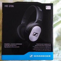 Наушники и Bluetooth-гарнитуры - Наушники Sennheiser HD 206 новые, 0