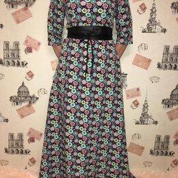 Платья - Платье в пол с поясом , 0
