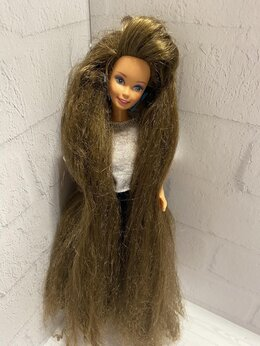 Куклы и пупсы - Барби / Barbie totally hair брюнетка, Малайзия, 0