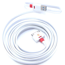 Аксессуары и запчасти для оргтехники - Кабель USB Apple 30Pin GRIFFIN PREMIUM плоский 3м, 0