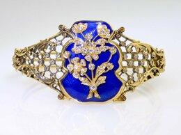 Браслеты - Золотой браслет с брилл. Эмаль. Царизм. 56 проба, 0