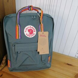 Рюкзаки - Рюкзак Kanken Classic Rainbow (Frost Green), 0