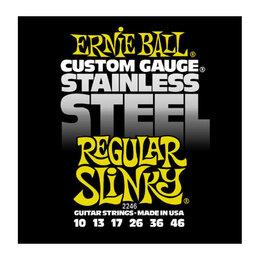Струны - Ernie Ball 2246 набор струн для 6-струнной электрогитары, размер 10-46, 0
