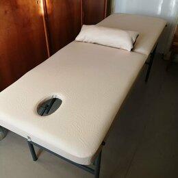 Массажные столы и стулья - Массажный новый складной стол, высота 75 см, цвет бежевый, 0