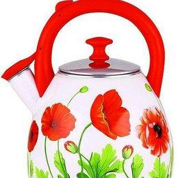 Заварочные чайники - Чайник Чудесница эч-3002 эмаль свисток 3 литра, 0