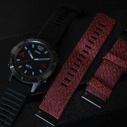 Умные часы и браслеты - Garmin fenix 6 sapphire - black DLC RED nylon, 0