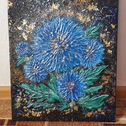 Картины, постеры, гобелены, панно - Объемные цветы текстурной пастой, 0