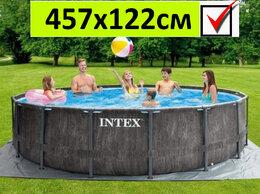 Бассейны - Каркасный бассейн 26742 интекс круглый 457х122см, 0