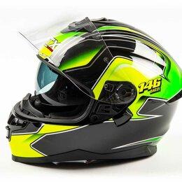 Мотоэкипировка - Шлем мото интеграл GTX 5672 (S) #3 BLACK/FLUO YELLOW GREEN (2 визора), 0