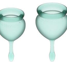 Подгузники - Набор темно-зеленых менструальных чаш Feel good Menstrual Cup Зеленый, 0