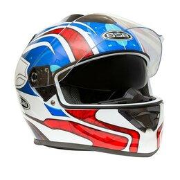 Мотоэкипировка - Шлем интеграл GSB G - 350 BLUE RED, 0