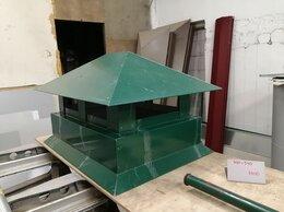 Дымоходы - Дымник с капельником 400*540 зелёный RAL6005 тип…, 0