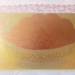 """Картины, постеры, гобелены, панно - Картина """"Апельсины в золотой вазе """"(двухсторонняя), 0"""