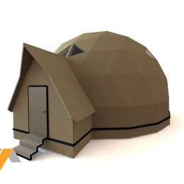 Входные двери - Купольный дом конструктор D12.1, 0