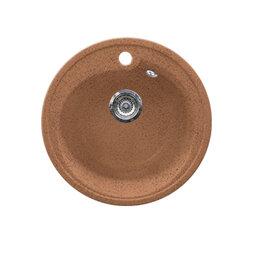 Кухонные мойки - Кухонная мойка круглая шоколад/терракот, 0