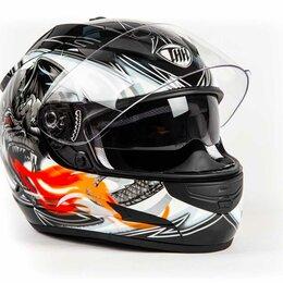 Мотоэкипировка - Шлем THH TS - 42#6 BLK/WHT 2 - стекла (L) (DRAGON), 0
