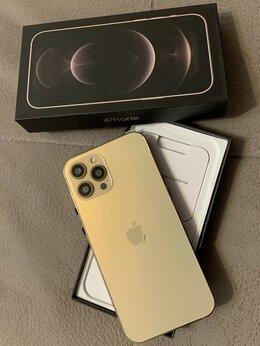Мобильные телефоны - Айфон 12 про мах цвет золотой , 0
