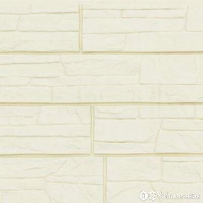 Фасадные панели Grand Line (ГрандЛайн) Сланец Молочный по цене 460₽ - Фасадные панели, фото 0