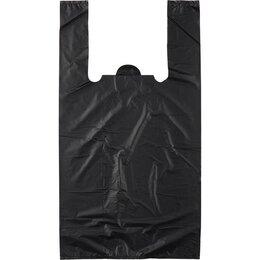 Упаковочные материалы - Пакет-майка пвд черный 40 мкм (30+16x57см), 0