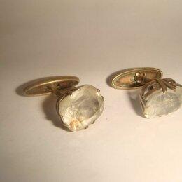 Запонки и зажимы - Запонки серебро горный хрусталь 50х годов, 0