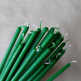 Товары для гадания и предсказания - Зеленые восковые свечи часовые, 0