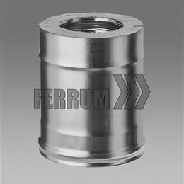 Дымоходы - Сэндвич дымоход 130х200 (L= 0,25м) (430/0,8мм + оц.) Феррум, 0