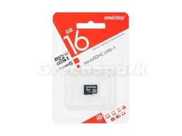 Карты памяти - Карта памяти MicroSD 16GB Smartbuy Class 10 SDHC…, 0