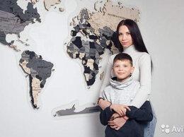 Картины, постеры, гобелены, панно - Карта мира из дерева Томск, 0