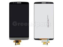 Дисплеи и тачскрины - Дисплей для LG G3 (D855) / D856 + тачскрин (титан), 0