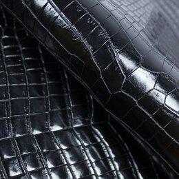 Рога, шкуры, чучела животных - Целая шкура крокодила цвет ярко чёрный. Кожа крокодила из Италии Centropelle, 0