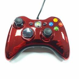 Рули, джойстики, геймпады - Джойстик xbox 360 Хром Красный проводной, 0