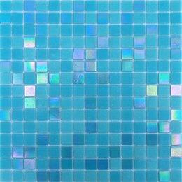 Мозаика - Мозайка DORI BLUE стеклянная  25*25*4мм 327*327мм на сетке 1/20, 0