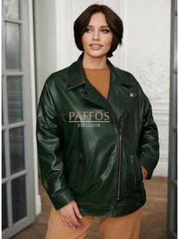 Куртки - Кожаная косуха больших размеров, 0
